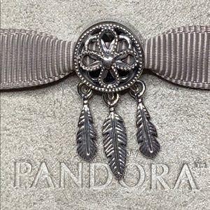 PANDORA SS Spiritual Dreamcatcher Charm, NWT